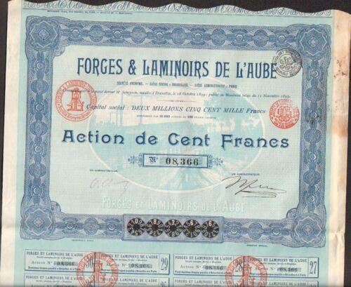 T AUBE 10 - BELGIQUE DECO =/> FORGES /& LAMINOIRS DE L/'AUBE