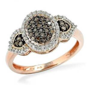 10K-Rose-Gold-Chocolate-Brown-Diamond-Ring-White-Diamond-Accent-Oval-Cluster