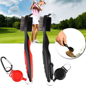 Golf-Club-Cleaning-Brush-amp-Groove-Cleaner-With-Retractable-Reel