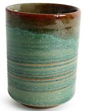 Mino ware Japanese Pottery Yunomi Chawan Tea Cup Hisui Emerald Green /& Purple