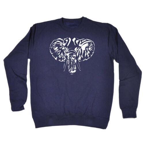 Funny Novelty Sweatshirt Jumper Top Elephant Head