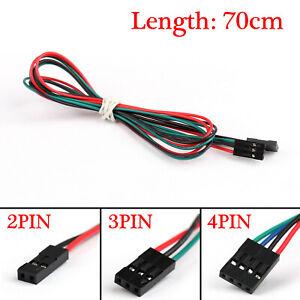 10Pcs 70cm 3Pin Cable Female-Female Jumper Wire For Arduino 3D Printer Reprap T2