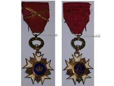 Belgium WW1 Knight Order Crown swords Belgian Merit 1914 Medal Decoration Award
