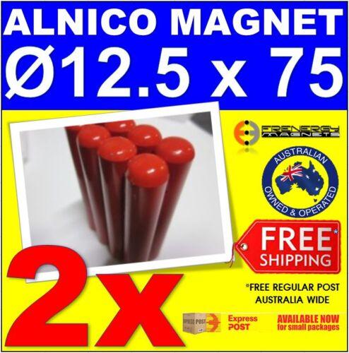 2x AlNiCo Cow Cylinder Rod MagnetDigestion Nuts Screws Nails Swarf Separator