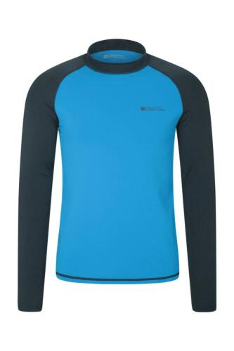 Mountain Warehouse Mens Long Sleeve Rash Vest w// UPF50+//Quick Dry Fabric