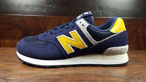 new balance 574 azul amarillo