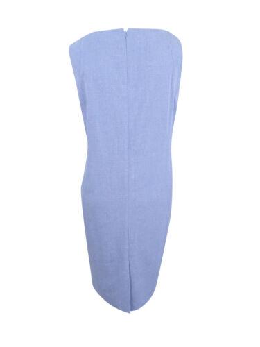 Nine West Women/'s Plus Size Seamed Crosshatch Sheath Dress