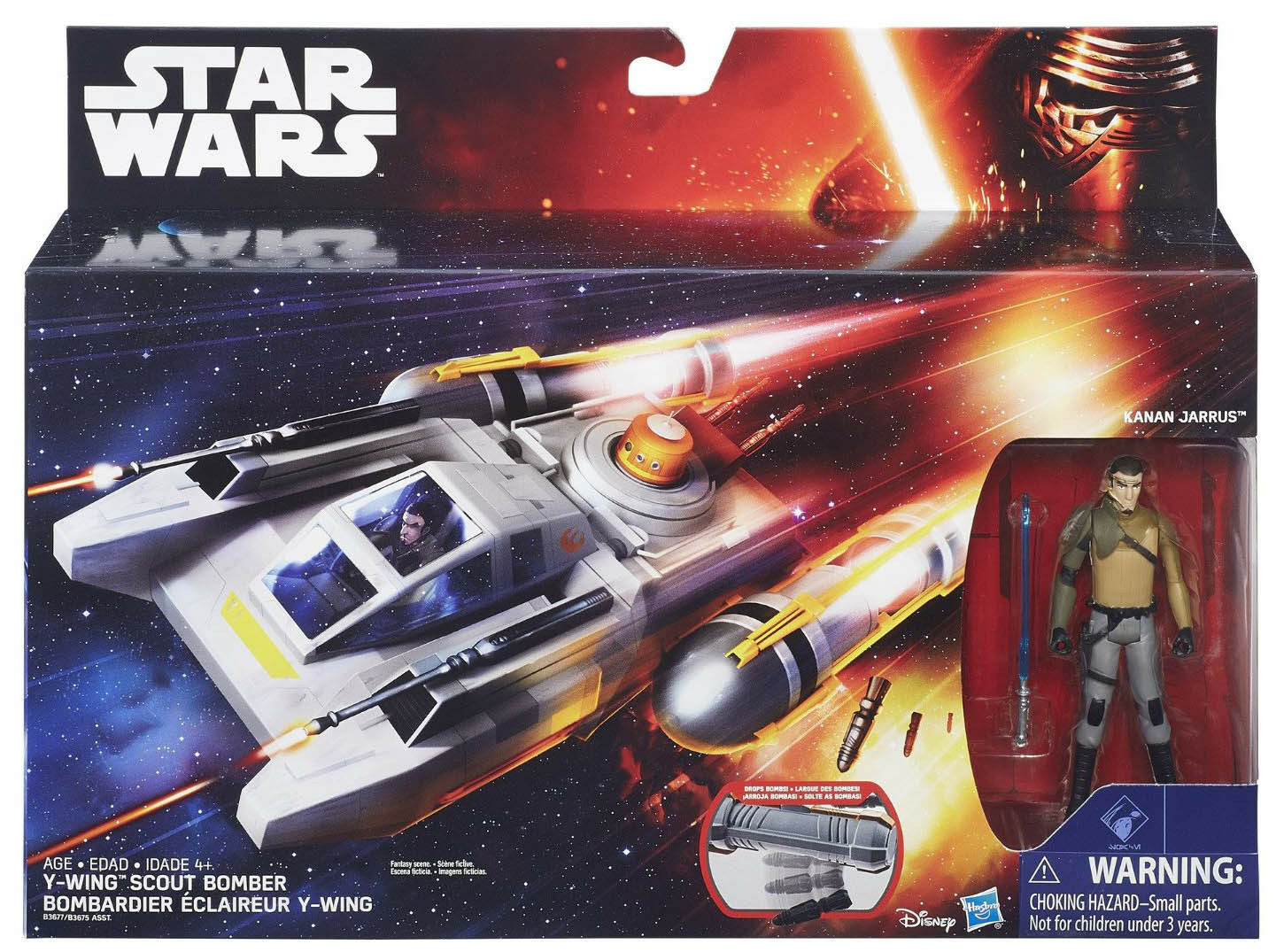 STAR WARS REBELS 3.75-INCH SCALE Y-WING SCOUT BOMBER WITH WITH WITH KANAN JARRUS FIGURE 68caad