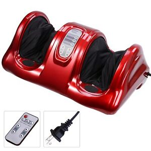 Shiatsu Home Foot Massager Machine With Switchable Kneading Rolling Massage Red