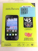 Straight Talk Alcatel OneTouch Pixi Eclipse Prepaid Smartphone - New Sealed !