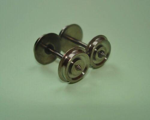 10xH0-Gleichstrom Radsätze//Achsen für Gützold 10,6 mm A:24,6 mm e.i NEU! GS//DC