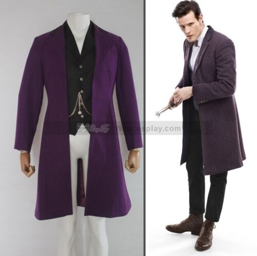Doctor Dr. Who - 11th Dr. Purple Coat Version 2 Custom Made