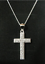 20mm 925 Silver CRYSTAL Cross Boxed on 18 inch Curb Chain Necklace