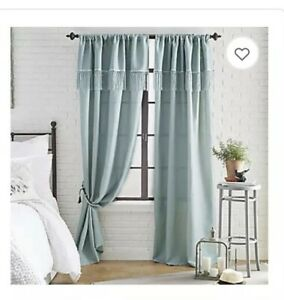 Window Curtain Panel Blue Mint Bed Bath
