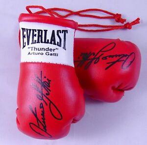 Autographed Mini Boxing Gloves Arturo (Thunder) Gatti