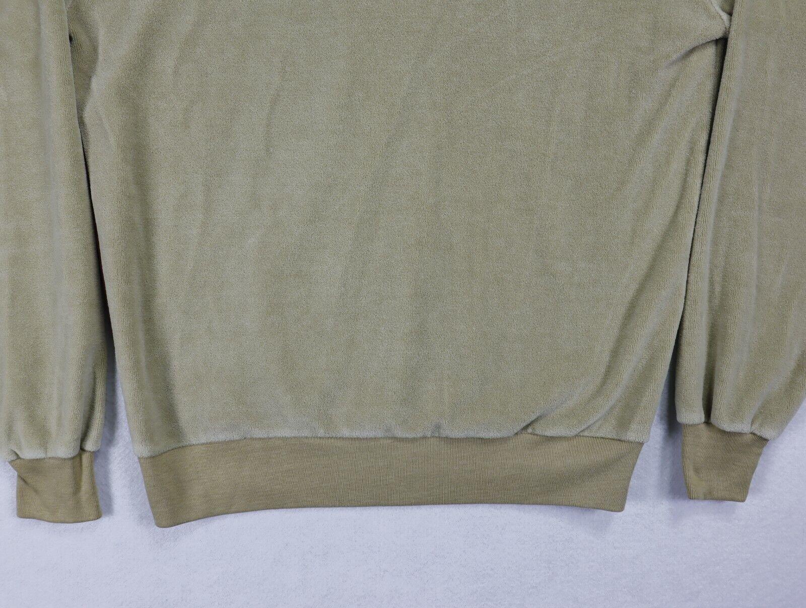 Sears Sportswear mens velour sweater medium brown… - image 11