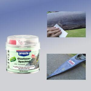 PRESTO 601013 Glasfaser-Spachtel Polyesterspachtel inkl. Härter 1 x 250 g