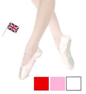 Tamaños del ballet clásico satén zapatos adulto y de niño rosa color blanco o rojo