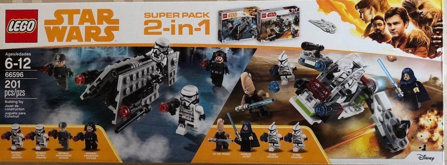 NEW LEGO 66596 Star Wars 2 in 1 Jedi & Clone Troopers & Battle Imperial Patrol
