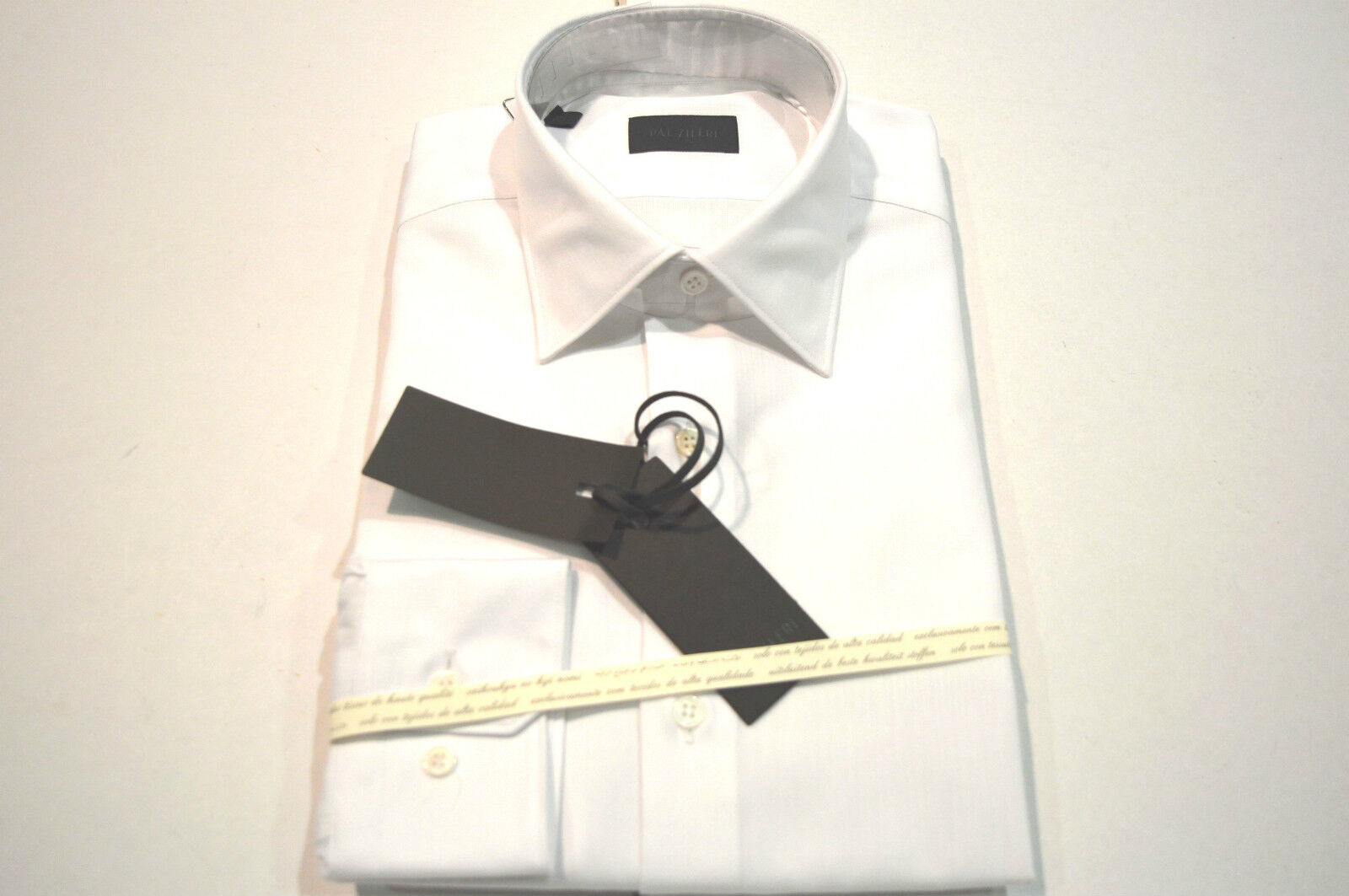 NEW  PAL ZILERI  White Dress Shirt  Size 16 Us 41 Eu Made In  (Cod A)