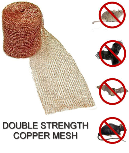 """Insect control Bird Pure Copper Soffit Mesh Various lengths. 4/"""" wide Rodent"""