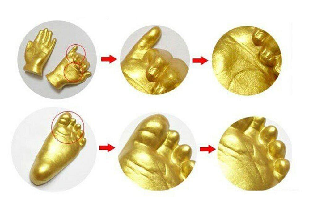 3D Baby Hand Foot Print Plaster Casting Kit Handprint Footprint Keepsake BH