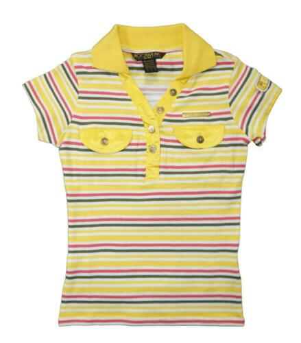 Rocawear Girls S//S Yellow Striped Polo Top Size 5 6 $26