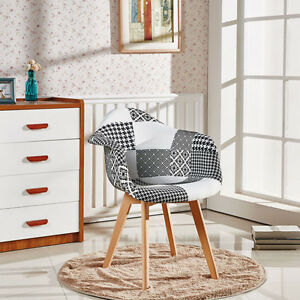Tulipe Fauteuil Patchwork Retro Moderne Salle A Manger