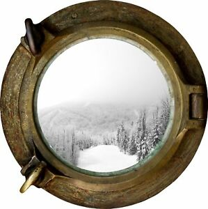 Huge-3D-Porthole-Beautiful-winter-View-Wall-Sticker-Film-Mural-Decal-34