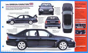 Lotus Omega Carlton UK 1990-1992 Spec Sheet Brochure Poster IMP Hot Cars 1 #18