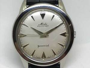9267ce00e3d Mido Multifort Powerwind Automatic Men s Watch 1950s Vintage Antique ...