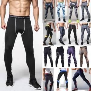 Men Gym Running Thermal Compression Base Layer Tight Pants Long Leggings Trouser