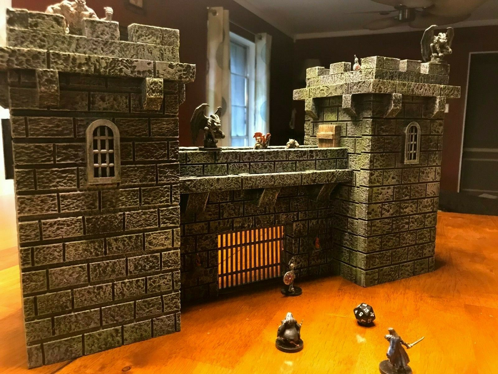 Big Dungeon Castle Wall Set Terrain 28mm Dungeons och drakes Pathfinder d &d rpg