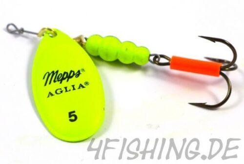 MEPPS AGLIA FLUO CHARTREUSE Größe 5 TOP!!! der Qualitätsspinner schlechthin!!