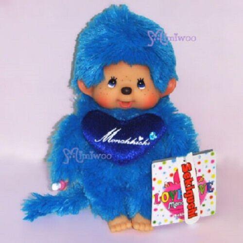 Monchhichi 20cm Plush S Size Love Love Color MCC Blue 243620 ~~~ FREE SHIP ~~~
