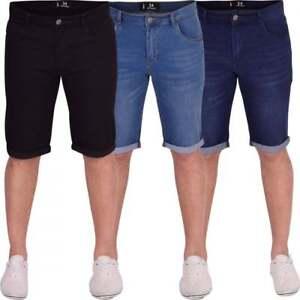Huso-para-hombre-Skinny-Stretch-Denim-Shorts-Rollos-subir-Verano-Moda-Corto-De-Jean