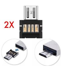 2X OTG Adapter Micro USB Male to USB Female For Samsung Android Phone PC
