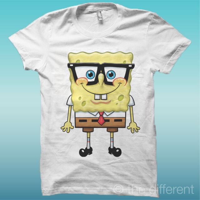 "T-SHIRT "" SPONGEBOB "" FILM VINTAGE BIANCO THE HAPPINESS IS HAVE MY T-SHIRT NEW"
