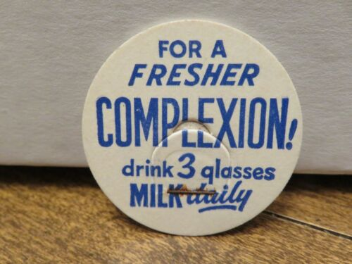 """DRINK 3 GLASSES MILK DAILY/"""" LID Older /""""FOR A FRESHER COMPLEXION"""