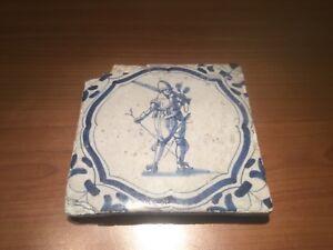 Antique-Dutch-Tile-17th-century-delft-musketier-delfs-delfts-tegel-soldier-wanli