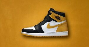 78e7357a9750 Nike Air Jordan 1 Retro High OG size 10. Yellow Ochre. Black Toe ...