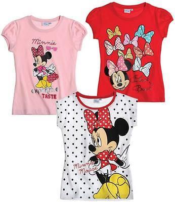 Disney Minnie Maus T-shirt 100% Baumwolle Gr. 92-104-116-128 [neu] VerrüCkter Preis
