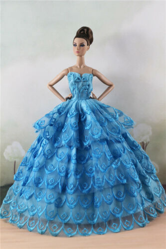 Fashion Party Dress//Wedding Clothes//Gown For 11 in Doll d53