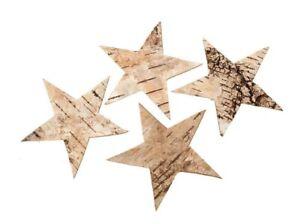 90-Stk-Birkensterne-6-5cm-Sterne-Birke-Holzsterne-Dekosterne-Holz-Weihnachtsdeko