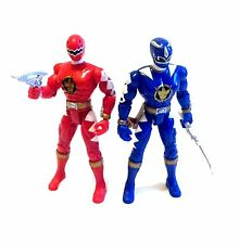 """Power Rangers DINO THUNDER toy action 5"""" figures lot set  of 2 with weapons"""