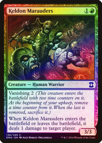 Keldon Marauders Foil Eternal Masters quase perfeito Vermelho Comum Magic The Gathering Cartão abugames