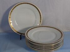 Hutschenreuther Selb China Dinnerware White Cobalt Gold Leaf Dinner Plates (8)