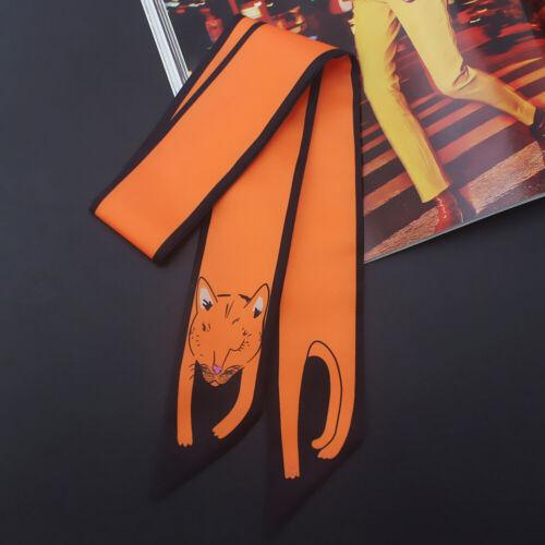 Twilly Tuch Seidentuch Tasche Schal Satin Band Haarband Schleife Griff Dekor