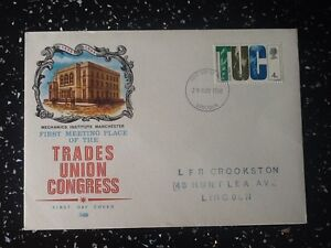 GB-1968-Anniversaries-4d-TUC-FDC-29th-May-1968-Lincoln