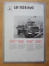 MERCEDES BENZ L306D & LAF 1113B 4x4 Fire Fighting Vehicle 1974 Leaflet Brochure